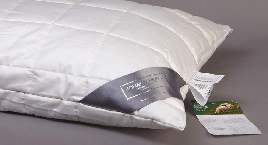 Шерстяная подушка премиум класса Johann Hefel